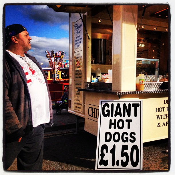 Giant hot dogs