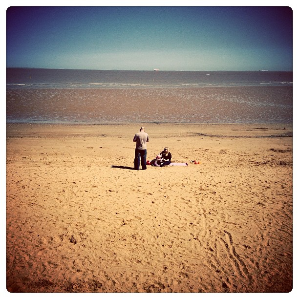 Cleethorpes beach on a Wednesday afternoon