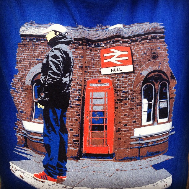 Hull on tour - nice t-shirt design spotted in Wakefield