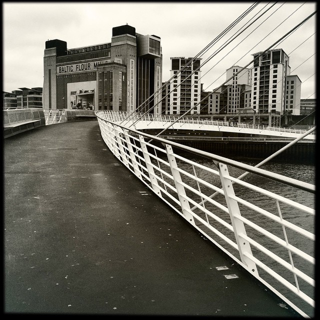 Millennium bridge to Baltic Flour Mills