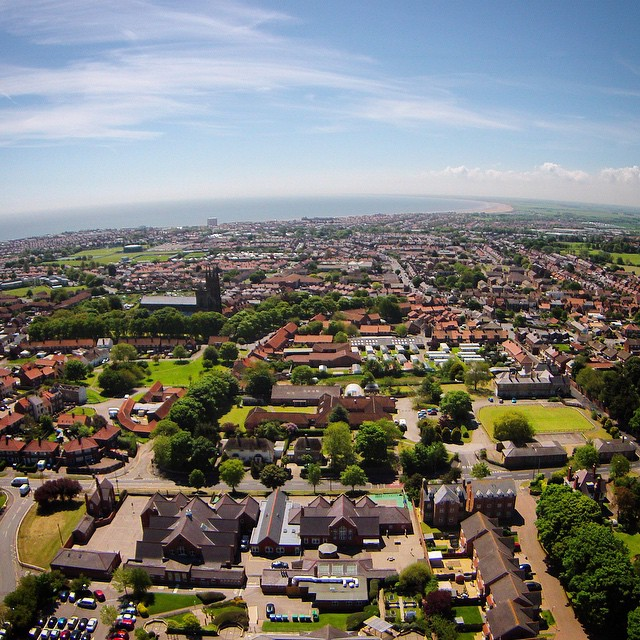 Aerial view of Burlington Junior School - Bridlington #drone #dji